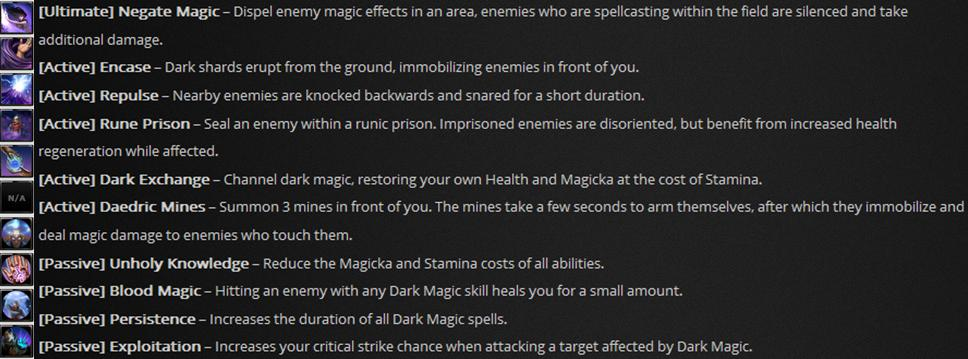 ESO Sorcerer Dark Magic
